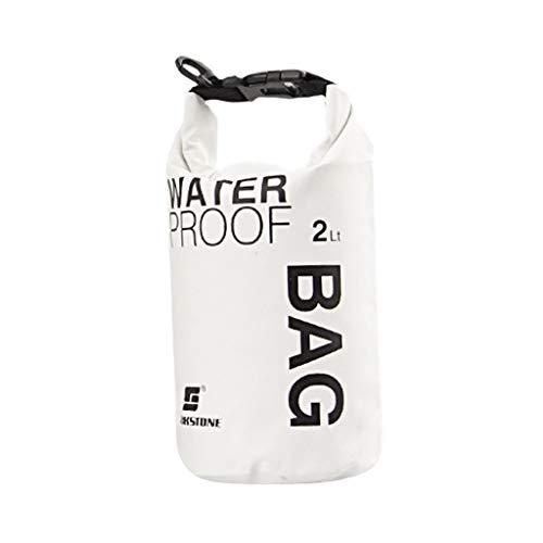 Wasserdichte Tasche für Camping, Bootfahren, Kajakfahren, Angeln, Rafting, Kanufahren, Weiß, 5 l