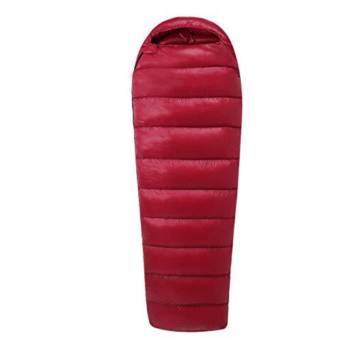 HPPSLT Sac de Couchage Adulte randonnée et activités de Plein air, Sac de Couchage en Duvet imperméable Portable pour Adulte extérieur - Velours 1000G-3