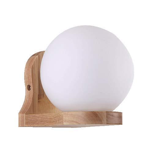 Led Sobrovo coperta in legno e vetro del riparo della parete, NWLAMP minimalista 1-Light lanterna della lampada da parete, luce decorativa parete di fissaggio, montaggio a parete Luce for Camera da le