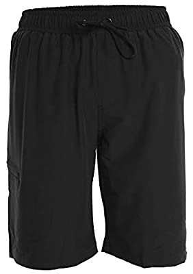 Men's Boardshorts - XXL - Black - Perfect Swimsuit, Swim Trunks, Board Shorts, Workout or Athletic Shorts for The Beach, Lifting, Running, Surfing, Pool, Gym. for Adults, Men's Boys