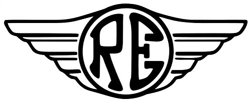 myrockshirt Motorradaufkleber Royal Enfield Logo Flügel ca.15cm Aufkleber Sticker Decal Profi-Qualität ohne Hintergrund Bike Tuning