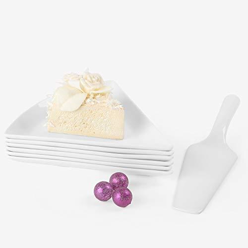 Holst Porzellan PL 19 FA3 Kuchen-Servierset mit Kuchenheber 7-tlg, Porzellan
