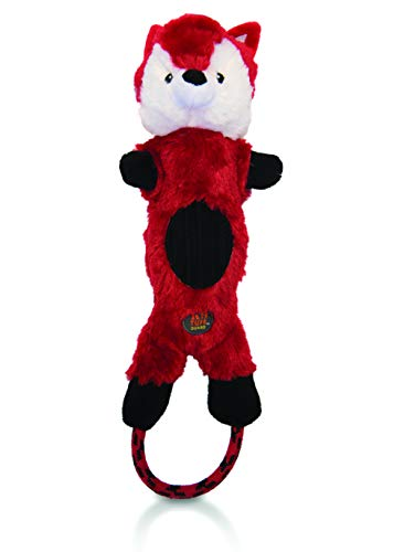 Charming Pet Lil Roperz Fox Durable Plush and Rope Tug Dog Toy