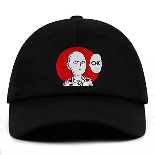 Gorra béisbol Hiphop Sun Hat Snapback hat Hombres Mujeres One Punch Sombrero bordado Padre Sombrero Bordado Algodón Gorra de béisbol Sombreros de ventilador para hombres Mujeres Ajustable Plegable