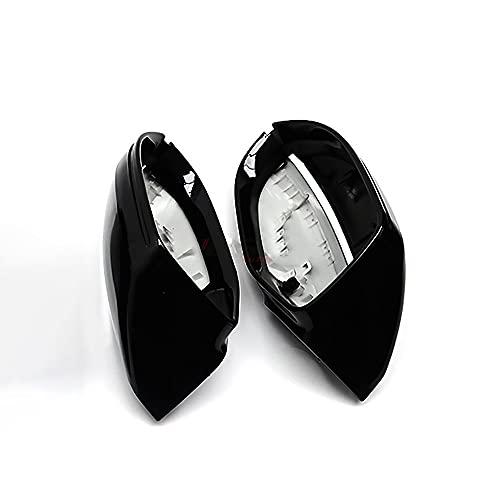 HYCQ Coche Cubiertas Espejos Retrovisores Exteriores para Audi A7 S7 RS7 4G8 2010 A 2017 TRIMAD DE Cubierta Espejo Exterior Negro Brillante Carcasa Espejo Retrovisor (Color : Sin Asistencia Lateral)