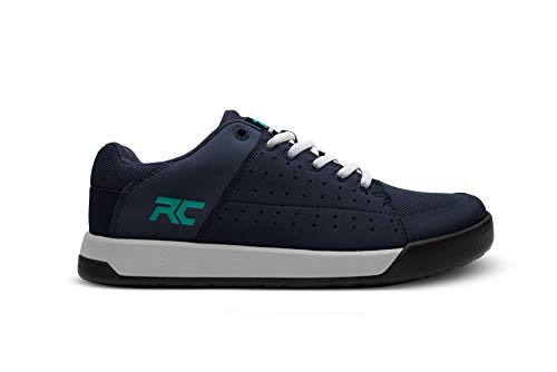 Ride Concepts Women's Livewire Flat Pedal Mountain Bike Shoe Navy/Teal 6.5 M US