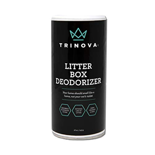 TriNova Premium Natural Litter Box Deodorizer - 100% Bio-Based, Hypoallergenic, Fragrance Free Odor Eliminator & Neutralizer - Extends Your Pet Cat's Litter & Absorbs Odors