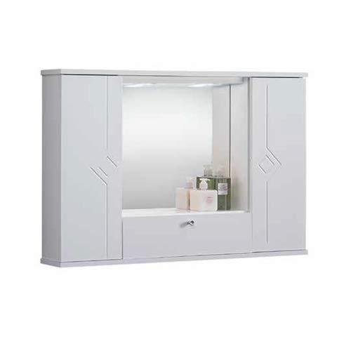 LIBEROSHOPPING.eu - LA TUA CASA IN UN CLIK Miroir Salle de Bain Blanche Polyvalente MERCURIO (sans miroirs, 90)