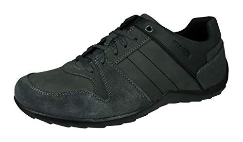 Geox Herren Low-Top Sneaker Pavel, Männer Sneaker,Halbschuh,Sportschuh,Schnürschuh,atmungsaktiv,GRAU,44 EU / 10 UK
