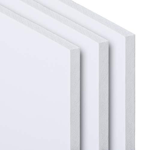 PVC Hartschaumplatte 3-10 mm Kunststoff Platte Weiß Zuschnitt Größe Wählbar 300-1200mm (5 mm, 800 x 1200 mm)