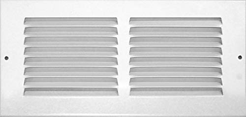 Accord ABRGWH104 Return Grille with 1/2-Inch Fin Louvered, 10-Inch x 4-Inch(Duct Opening Measurements), White