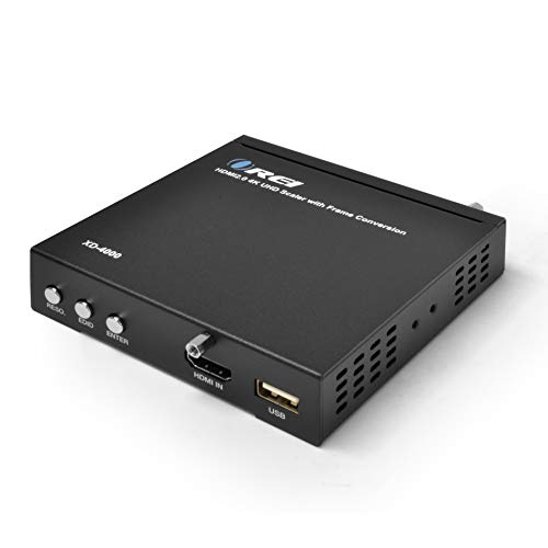 4K HDMI Scaler by OREI Up and Down Function Convert Resolutions at 720p, 1080p, 4K 30Hz, 4K 60Hz, with Optical Analog Audio Extractor, RS-232 Support