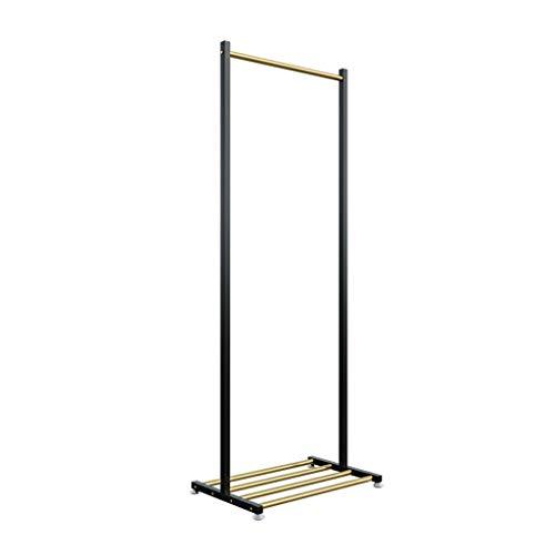 LICHUAN Perchero 160 Cm Marco De La Liebre De Europa del Norte Pisando Las Escaleras Smility Home Metal Metal House Hanger Hanger (Oro + Black) Fácil Montaje (Color : Gold+Black, tamaño : 80cm)