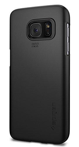 Spigen Samsung Galaxy S7 Hülle, [Thin Fit] Passgenau [Schwarz] Slim Hart PC Hardcase Schale Schlanke Handyhülle Schmal Schutzhülle für Samsung Galaxy S7 Case Cover - Black (555CS20003)
