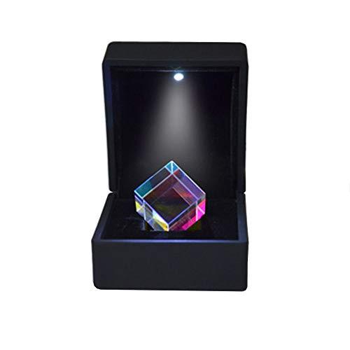 Vientiane Würfel Prisma,K9 Optischen Glas, Strahlteilungsprisma,Optisches Experiment für Unterricht in Physik Lichtspektrum