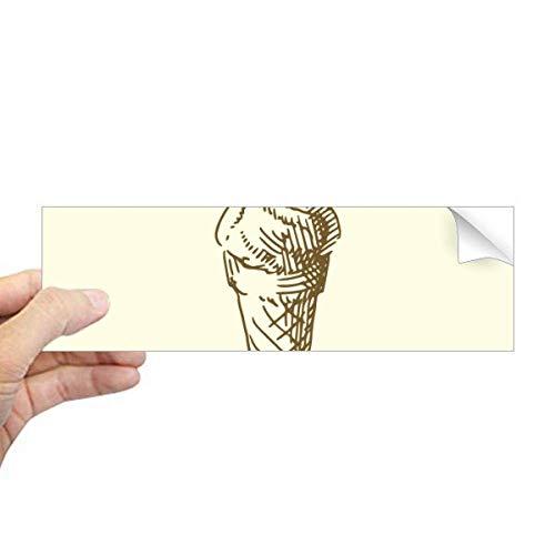 DIYthinker bruin hand tekeningen zoete ijs rechthoek bumper sticker Notebook venster sticker