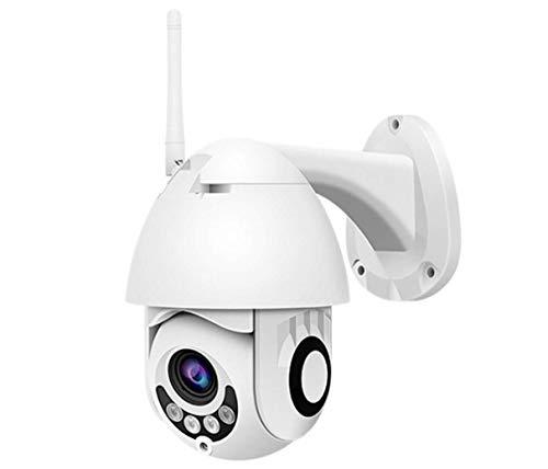 Outdoor Wireless Überwachungskamera HD 1080P WiFi CCTV Schwenkbare-Kamera mit Zweiwege Audio Bewegungserkennung IP66 Waterproof Kuppelkamera Unterstützung für Mobiltelefon,Computer,PC