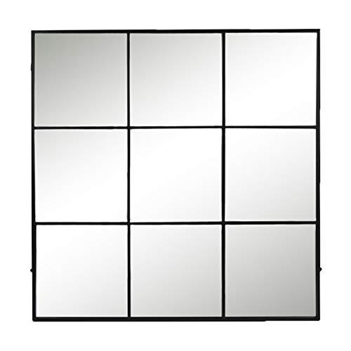 Pomax Miroir Industriel Noir 9 Sections 118x02x118 cm