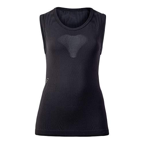 UYN Visyon Light - Camiseta Interior térmica Ligera de Primera Capa para Mujer, sin Mangas, Mujer, U100106, Blackboard/Anthra, L-XL