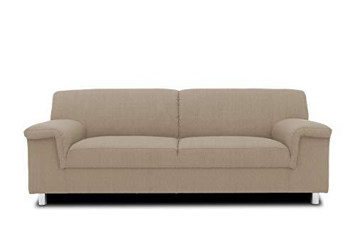 DOMO. collection Jamie Sofa 2er Couch, Garnitur 2 Sitzer, beige, 191 x 80 x 72 cm