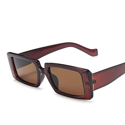 IYUNDUN Gafas De Sol Rectangulares para Mujer, Gafas De Sol De Moda Retro con Protección UV400, Gafas De Color Transparente, para Conducir, Andar En Bicicleta, Gafas De Viaje (Color : C6)