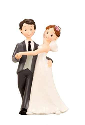 Locnikar Brautpaar, Hochzeitspaar | Tortenaufsatz, Tortenfigur, Dekofigur Cake Topper | Comic Tanzend | 16 cm (Brautpaar-Tanzend)