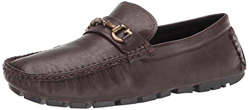 GUESS Men's Adlers Loafer, Brown, 8.5