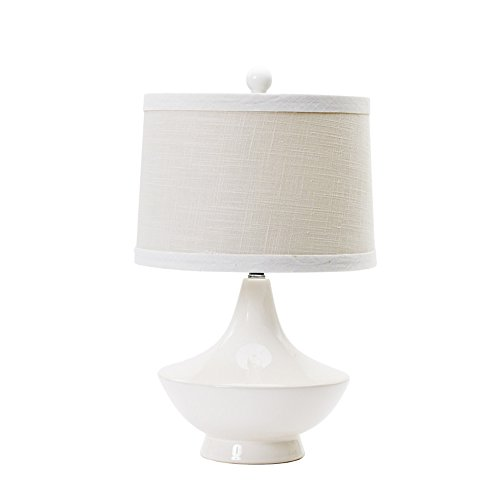 Fangio Lighting 8775 Traditional Ceramic Table Lamp, 22-Inch, White