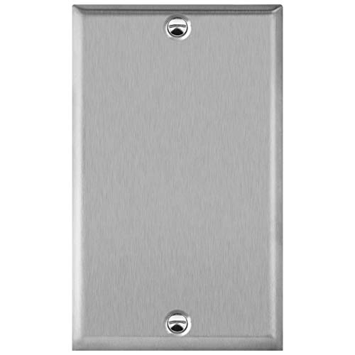ENERLITES Blank Device Metal Wall Plate, Corrosion Resistant, Size 1-Gang 4.50