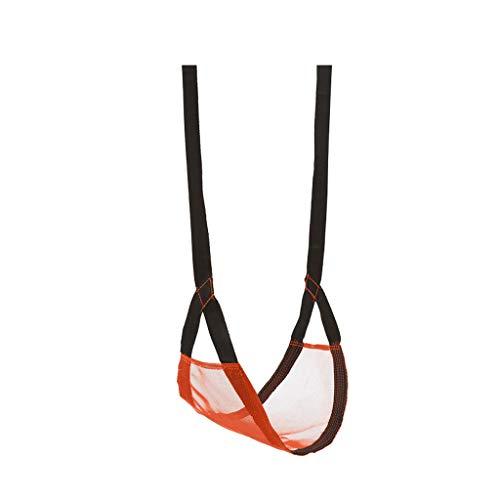 XUANLAN Panier Suspendu de Sac de Jouet de Chaise des Enfants portatifs d'intérieur et extérieurs d'oscillation (Color : Orange)