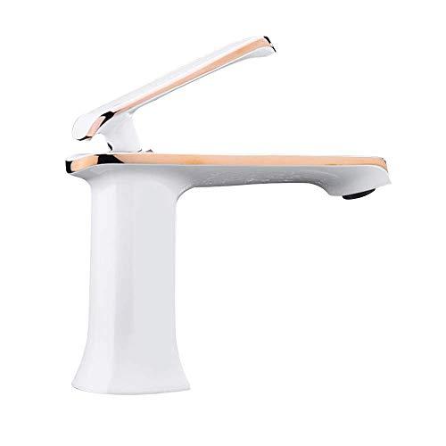 Farmhouse - Grifo para lavabo de recipiente para baño, grifo mezclador de latón sin plomo con un solo orificio y un orificio para lavabo, montaje en cubierta con tubería de entrada de agua fría y