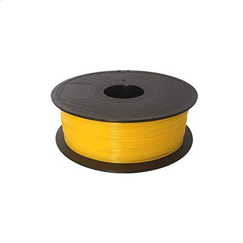 Filament for PLA 1.75mm 3D-Drucker-Verbrauchsmaterial EIN Gemeinsames Hochpräzise Und Hochwertige 1 Kg Nettogewicht Rollen 3D-Druck-Zeichnungs-Feder Filament Refills (Color : Yellow)