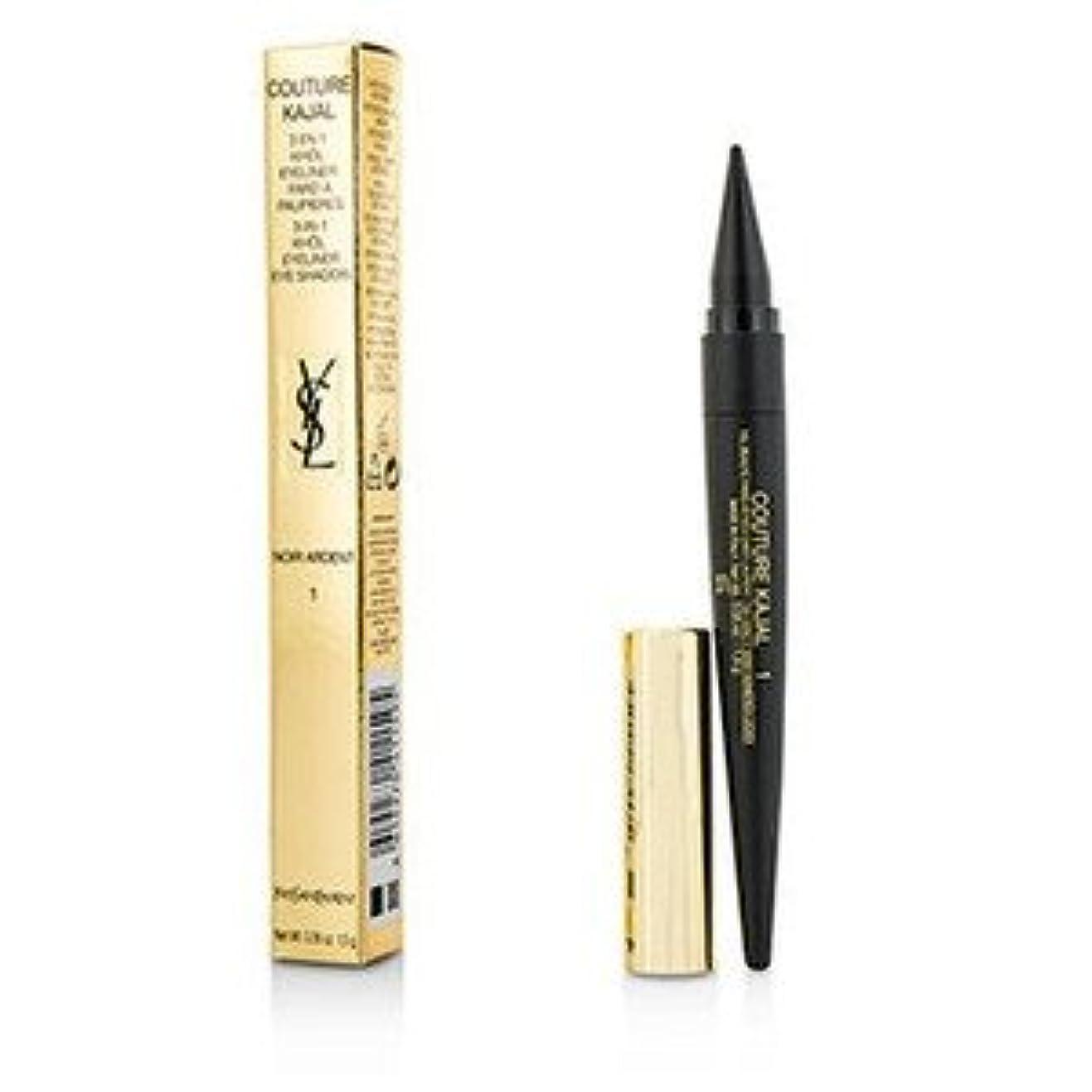 操作可能日曜日労働者Yves Saint Laurent(イヴサンローラン) クチュール カジャール 3 in 1 アイ ペンシル(Khol/Eyeliner/Eye Shadow)- #1 Noir Ardent 1.5g/0.05oz [並行輸入品]