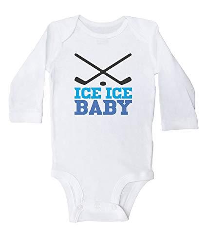 Axige888 Mono de hockey divertido para bebé/unisex, color blanco