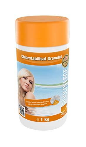 Chlorstabilisat Granulat, 1kg Dose, Wasserpflege für Pool und Schwimmbad