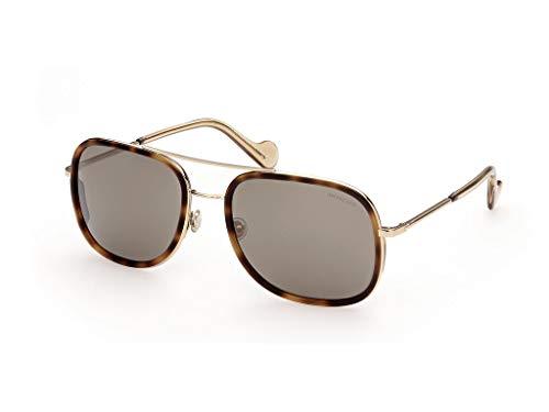 Moncler sonnenbrille ML0145 52L Havana braun größe 61 mm Mann