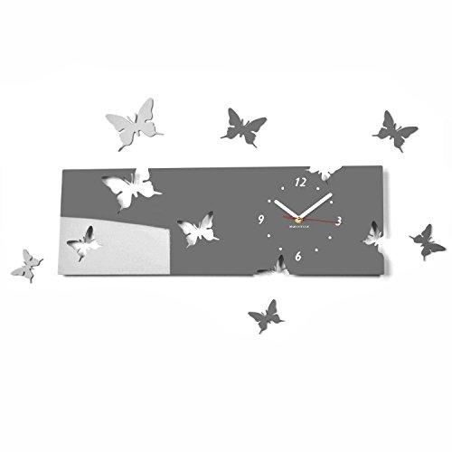 FLEXISTYLE l'horloge, Plastique, Noir, 20 x 60 cm