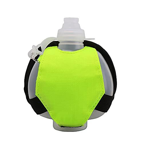 CJBIN Borraccia da fitness, borsa da polso per il fitness, a prova di perdite, per attività all'aperto, campeggio, escursionismo, ciclismo, corsa, viaggi (verde)