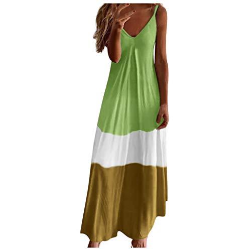 Maxikleid Sommer Etuikleid Damen Elegant Für Hochzeit Balettkleider Mädchen Abendkleid Lang Hochzeitsgast Kleid Damen Baby Mädchen Kleid Hijab Kleider Frauen Handtuchkleid Damen(Grün,5XL)
