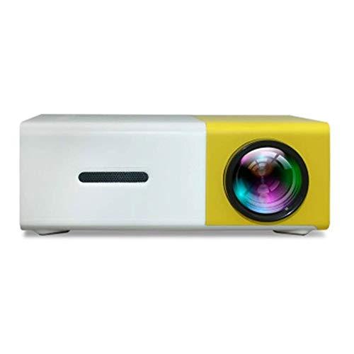 ZXNRTU Impresionante Calidad de Imagen Proyectores de Arriba de presentación de Oficina con Interfaz USB/AV/HDMI HD for Salas de Familia y reuniones (Color : Yellow+White, Size : One Size)