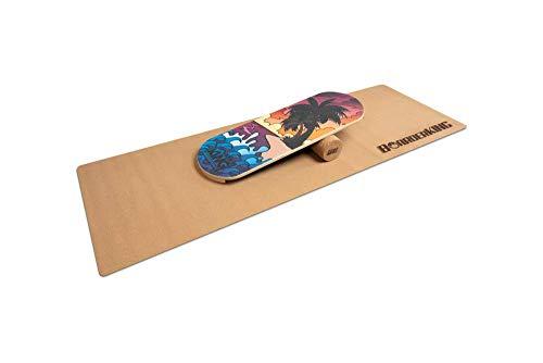 BoarderKING Indoorboard - Classic - Skateboard Surfboard Trickboard Balanceboard Balance Board (Bali, 100 mm x 33 cm (∅ x L))