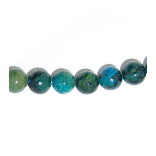 Filo 45+ Blu/Verde Crisocolla 8mm Tondo Perline GS5758-3 (Charming Beads)
