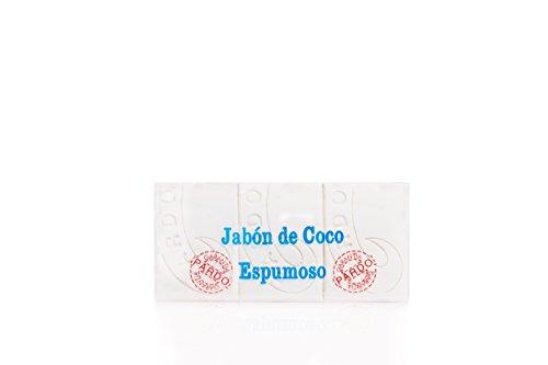 Pardo Jabón Natural Coco Blanco - Paquete de 3 x 250 gr - Total: 750 gr