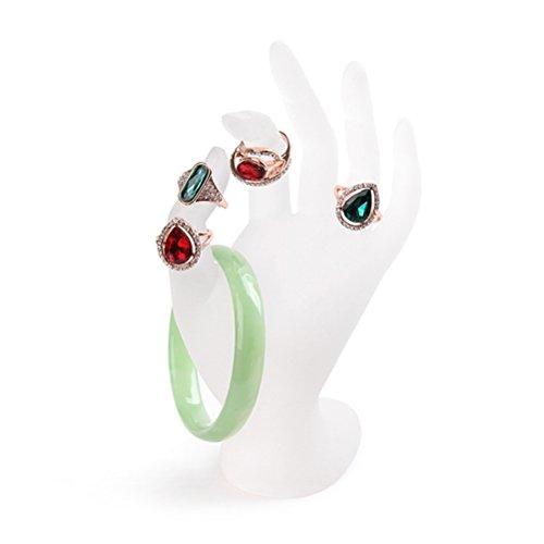 LUOEM Hand Schmuckständer, OK Dekohand Schmuckhalter Ringhalter für Schmuck Aufbewahrung (weißes Harz)