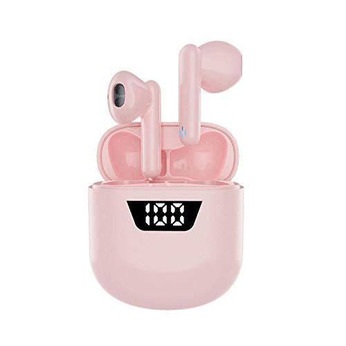 N\C Auriculares Bluetooth P66, Auriculares Bluetooth inalámbricos Verdaderos TWS de la Voz del Tacto de la Pantalla Digital