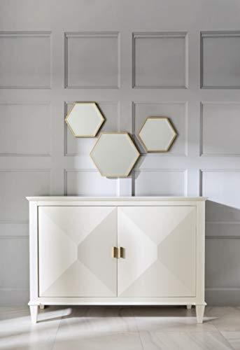 Casa Padrino Cajonera neoclásica Blanco/Oro 140 x H100 cm - aparador Muebles Art Deco