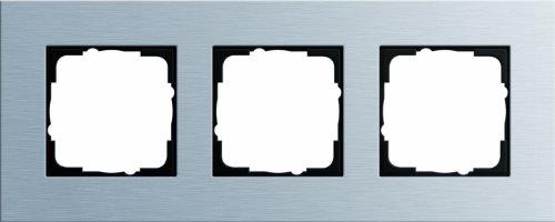 Gira 021317 Abdeckrahmen 3 Fach Esprit Aluminium