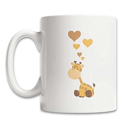 Taza de café linda de la jirafa del bebé - Taza de las jirafas del amor - Taza de la jirafa adorable - Regalo de la jirafa del bebé - Taza de la jirafa linda - Amo el regalo de las jirafas