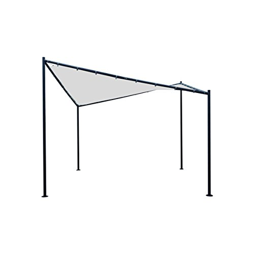DEGAMO Sonnensegel Walmdach Pavillon Orlando 350x350cm, Dach wasserdicht Weiss