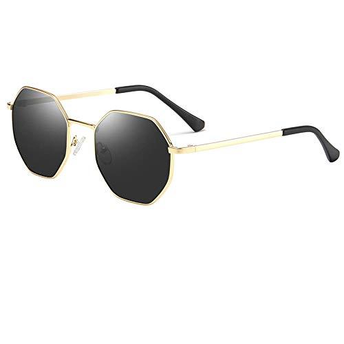 ZFSWMY Gafas de sol de moda sexy para mujer gafas de sol polarizadas cuadradas octogonales mujeres hombres retro marcos de metal gafas de sol mujeres UV400-02